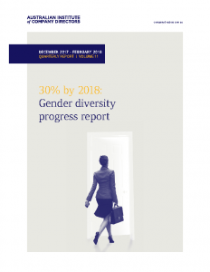 30% by 2018 Gender Diversity Progress Report 2018