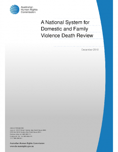 AHRC A Review into Deaths from Domestic Violence in Australia 2016