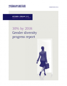 AICD Gender diversity progress report 2017