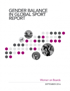 Gender Balance in Global Sport Report