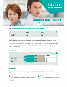 Hudson Gender pay report 2017