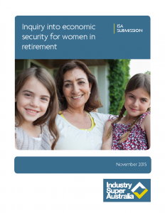 Inquiry into Economic Security for Women in Retirement 2015