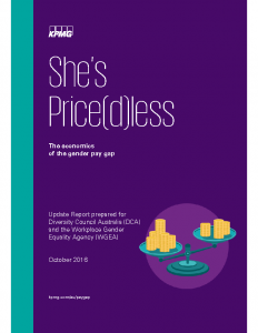 She's Price(d)less The economics of the Gender Pay Gap 2016