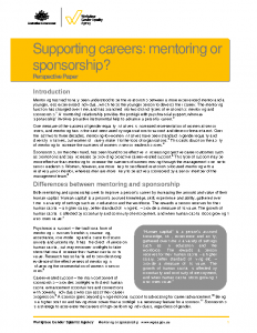Supporting Careers Mentoring or Sponsorship 2016