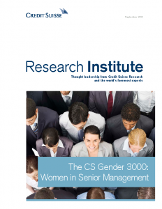 The CS gender 3000 Women in Senior Management 2014
