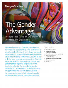 The Gender Advantage Integrating Gender Diversity into Investment Decisions
