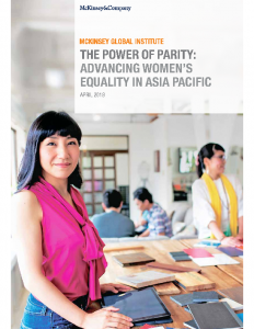 The Power of Parity Advancing Women's Equality in Asia Pacific 2018