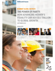 The Power of Parity How Advancing Women's Equality Can Add $12 Trillion to Global Growth 2015