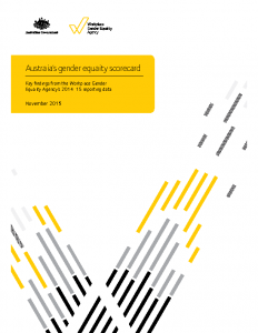 WGEA Australia 2014-15 Gender Equality Scorecard