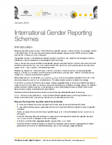 WGEA International Gender Reporting Schemes