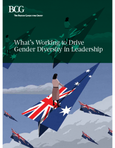 What's Working to Drive Gender Diversity in Leadership 2017