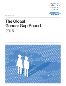 2016 World Economic Forum Global Gender Gap Report – 2016