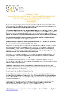 2019 eS4W Discussion Paper Issues confronting Australian women from culturally diverse backgrounds