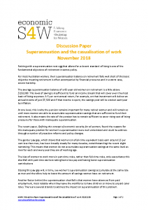 eS4W Discussion Paper Superannuation and the casualisation of work