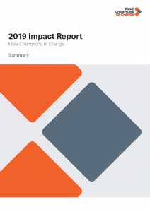 Male Champions of Change 2019 Impact Report – Summary