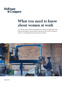 McKinsey 2019 What you Need to Know About Women at Work