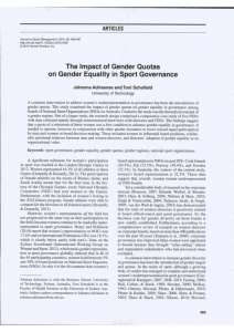 2014 Johanna Adriaanse The impact of gender quotas on gender equality