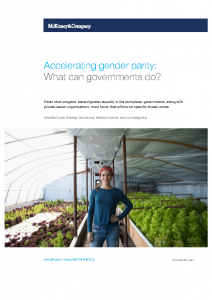 2019-01-29 McKinsey – gender inequality what can governments do