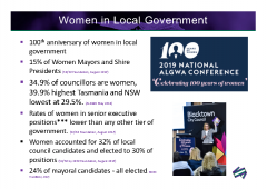 2019-10 AGEC Women in Local Government statistics