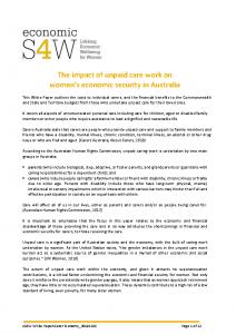 2019-11-12 eS4W White Paper_Carer Economy_20191101