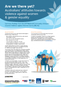 2017 ANROWS_Summary_Report Australians Attitudes Towards Violence against Women and Gender Equality