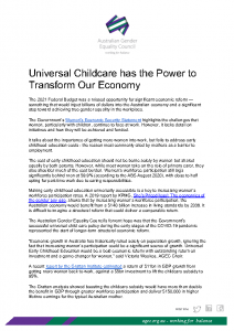 2020-11- AGEC Position Statement on Universal Childcare has the Power to Transform Our Economy FINAL
