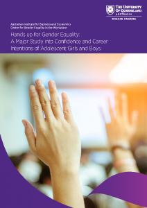 2018-12 AGEC UQ AIBE Hands Up for Gender Equality Report Nov 2018