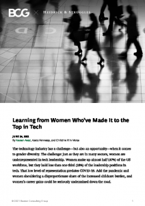 2021-06-24 (USA- IT) BCG – Heidrick and Struggles – Learning from Women who've made it to the top in tech