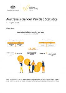 2021-08-31 WGEA Gender Pay Gap Fact Sheet