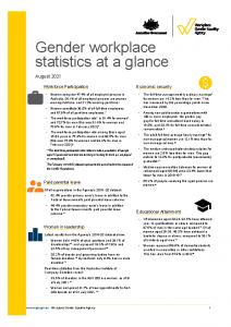 2021-08 WGEA Gender workplace statistics at a glance